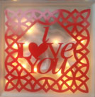 Lighted Cube - I Love You in Madisonville, Kentucky, Exotic Florist & Gifts
