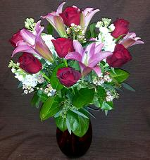 medium size Valentine's Arrangement in Bothell WA, The Bothell Florist