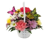 Detroit Flowers - Spring Butterfly Basket (Metro-Detroit Area Only) - Thrifty Florist