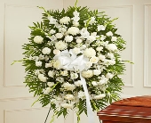 Deepest Sympathies Standing Spray - White in El Cajon CA, Conroy's Flowers