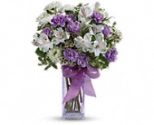 Teleflora's Lavender Laughter Bouquet in San Jose CA, Pink Unique Florist