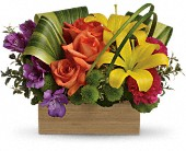 Teleflora's Shades Of Brilliance Bouquet in Burlington WI, gia bella Flowers and Gifts