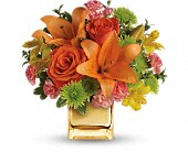 Teleflora's Tropical Punch Bouquet in Woodland Hills CA, Abbey's Flower Garden