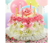 Pink Birthday Cake in La Mesa CA, Conroy's Flowers