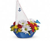 Mesa Flowers - Teleflora's Anchors Aweigh Bouquet - Fresh Bloomers Flowers &amp; Gifts, Inc.
