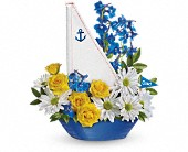 Teleflora's Captain Carefree Bouquet in Burlington WI, gia bella Flowers and Gifts