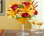 Martini Bouquet-Pumpkin Spice in Los Angeles CA, 1-800 Flowers Conroys