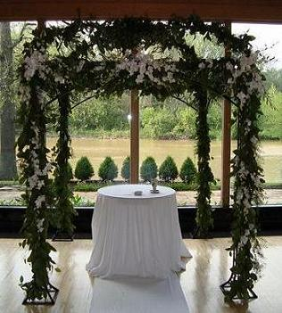 Decorated arch or chuppah in Hilliard, Ohio, Hilliard Floral Design