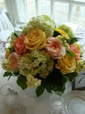 Peach, green and yellow in Hilliard, Ohio, Hilliard Floral Design