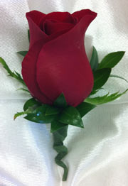 RED ROSE BOUTONNIERE in Ossining NY, Rubrums Florist Ltd.