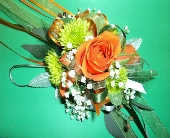 STANDARD ORANGE AND GREEN WRIST CORSAGE  in Hagerstown, Maryland, Chas. A. Gibney Florist & Greenhouse