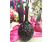 Black cut-work vase in New Castle PA, Butz Flowers & Gifts