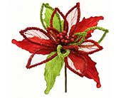 Large Chenille Crinkle Poinsettia in San Antonio TX, Best Wholesale Christmas Co