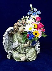 Angel with Candleholder in Pendleton IN, The Flower Cart