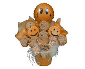 Smiley Face Cookie Bouquet in Nationwide MI, Wesley Berry Florist, Inc.