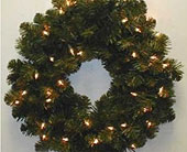 24in.Oregon Fir Wreath Cl. Lite in San Antonio TX, Best Wholesale Christmas Co