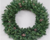 72in. Needle Pine Unlit Wreath in San Antonio TX, Best Wholesale Christmas Co