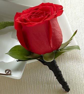 The FTD� Red Rose Boutonniere in Highlands Ranch CO, TD Florist Designs
