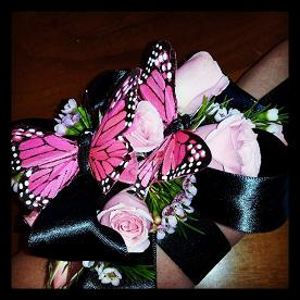 butterfly corsage in Bothell WA, The Bothell Florist