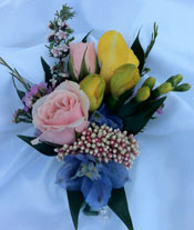 SPRING MIX BOUTONNIERE in Ossining NY, Rubrums Florist Ltd.