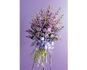 Peaceful Purple Tribute Spray in Aston PA, Wise Originals Florists & Gifts