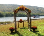 Pussy Willow Arch in Williamsport, Pennsylvania, Janet's Floral Creations