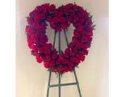 Red Rose Heart Standing Spray in Carmichael, California, Bettay's Flowers