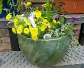 Heavy Ceramic Planter in York PA, Lincolnway Flower Shop & Greenhouses