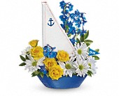 Ahoy It's A Boy Bouquet by Teleflora in Ruston LA, 2 Crazy Girls