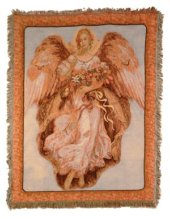 Golden Angel Tapestry Throw in Pendleton IN, The Flower Cart