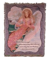 Behold I Send An Angel Tapestry Throw in Pendleton IN, The Flower Cart