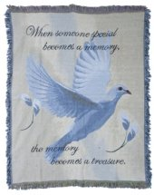 Dove Tapestry Throw in Pendleton IN, The Flower Cart