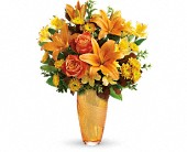 Teleflora's Amber Elegance Bouquet in Edmonton AB, Petals For Less Ltd.