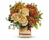 Teleflora's Autumn Romance Bouquet in St. Clair Shores MI, DeRos Delicacies