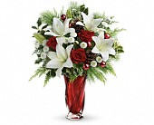 Teleflora's Christmas Swirl Bouquet in Woodbridge VA, Lake Ridge Florist