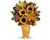 Teleflora's Golden Grace Bouquet in Edmonton AB, Petals For Less Ltd.
