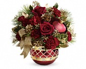 Brighton Flowers - Teleflora's Jeweled Ornament Bouquet - Boston Blossoms