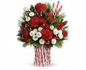 Ninnekah Flowers - Teleflora's Peppermint Sticks Bouquet - Kendall's Flowers