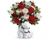 Surfside Beach Flowers - Teleflora's Send a Hug Cuddle Bears Bouquet - Little Shop Of Flowers