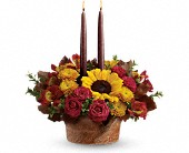 Teleflora's Sunny Thanksgiving Centerpiece in Edmonton AB, Petals For Less Ltd.