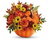 Teleflora's Warm Fall Wishes Bouquet in Columbiana OH, Blossoms In the Village