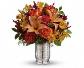 Teleflora's Fall Blush Bouquet in St. Clair Shores MI, DeRos Delicacies