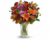 Teleflora's Fall Brights Bouquet in St. Clair Shores MI, DeRos Delicacies