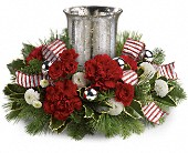 Teleflora's Holly Jolly Centerpiece in Bradenton FL, Tropical Interiors Florist