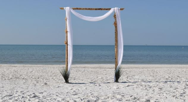 2 Post Bamboo Arch in Shalimar, Florida, Connect with Flowers