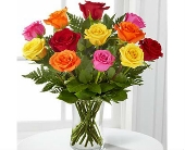 Mixed Colored Roses in Largo FL, Rose Garden Flowers & Gifts, Inc