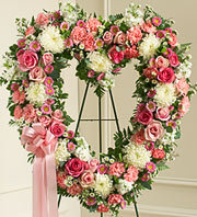 Always Remember Floral Heart Tribute - Pink in Oakland, California, From The Heart Floral