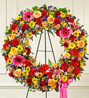 Serene Blessings Standing Wreath - Bright in Oakland, California, From The Heart Floral