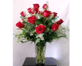 Coronado Flowers - Dozen Premium Long-Stem Red Roses  - The Floral Gallery