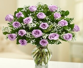 18 Premium Long Stem Purple Roses in Los Angeles CA, 1-800 Flowers Conroys